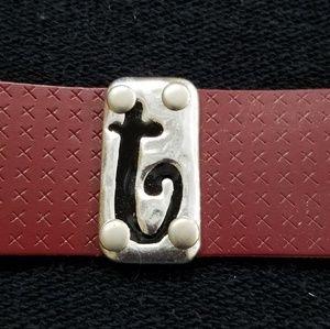 PLUNDER Intial bracelet
